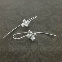 Brushed Orchid Drop Earrings