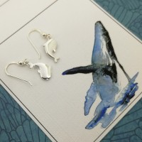 Playing Whale Hanging Earrings