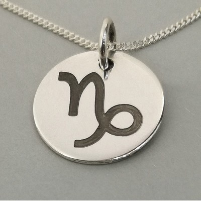 Capricorn Star Sign Engraved Necklace